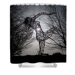 An Eclipse Of The Heart? Shower Curtain by Richard Brookes