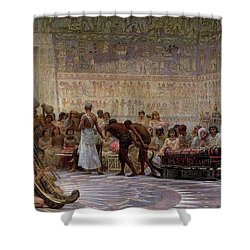An Egyptian Feast Shower Curtain by Edwin Longsden Long