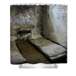 Shower Curtain featuring the photograph An Empty Cell In Cork City Gaol by RicardMN Photography