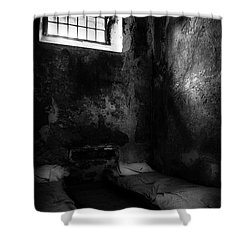 Shower Curtain featuring the photograph An Empty Cell In Old Cork City Gaol by RicardMN Photography