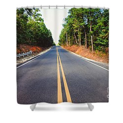 An Empty Road Shower Curtain