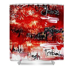 An Erotic Poem - Art And Words Shower Curtain