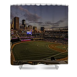 An Evening At Target Field Shower Curtain by Tom Gort