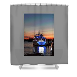 Shower Curtain featuring the photograph An Evening In Newport Rhode Island IIi by Suzanne Gaff