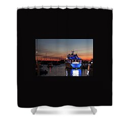 Shower Curtain featuring the photograph An Evening In Newport Rhode Island Iv by Suzanne Gaff