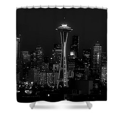 An Evening In Seattle Shower Curtain by L O C