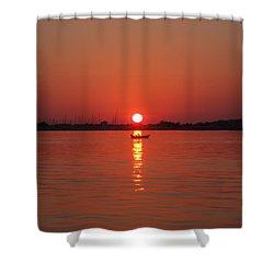 An Evening Row Shower Curtain