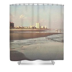 An Evening Walking The Grand Strand Shower Curtain