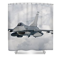 An F-16 From The Colorado Air National Shower Curtain by Giovanni Colla