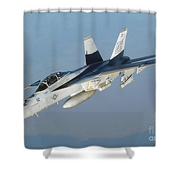 An Fa-18f Super Hornet Conducts Shower Curtain by Stocktrek Images