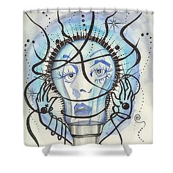 Shower Curtain featuring the digital art An Idea by Darren Cannell