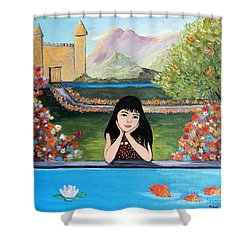 An Imaginative Mind Shower Curtain by Reb Frost