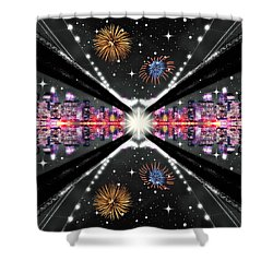 An Independent New York State Of Mind Shower Curtain
