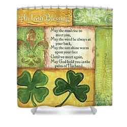 Shower Curtain featuring the painting An Irish Blessing by Debbie DeWitt