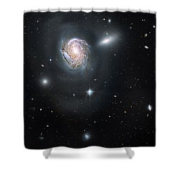 Shower Curtain featuring the photograph An Island Universe In The Coma Cluster by Nasa