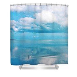 An Ocean Like Glass Shower Curtain