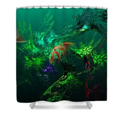An Octopus's Garden Shower Curtain by David Lane