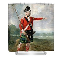 An Officer Of The Light Company Of The 73rd Highlanders Shower Curtain by Scottish School