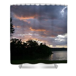 An Ohio River Valley Sunrise Shower Curtain