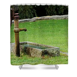 An Old Hand Pump In Plymouth,mass Shower Curtain by Rod Jellison
