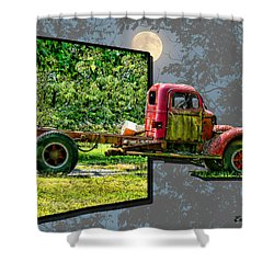 Shower Curtain featuring the photograph An Old Relic by EricaMaxine  Price