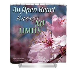 An Open Heart Knows No Limits Shower Curtain by Mark David Gerson