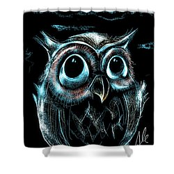 An Owl Friend Shower Curtain