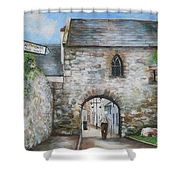 An Tholsel Shower Curtain by Marty Garland