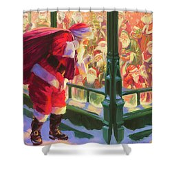 Shower Curtain featuring the painting An Unforeseen Encounter by Steve Henderson