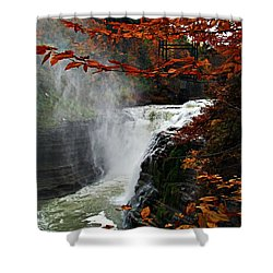 An Upper Letchworth Autumn Shower Curtain