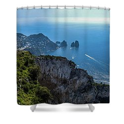 Anacapri On Isle Of Capri Shower Curtain