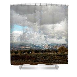 Anaconda Range Shower Curtain by Cindy Murphy - NightVisions