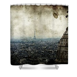Anamnesis Shower Curtain by Andrew Paranavitana