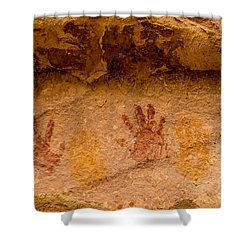 Anasazi Painted Handprints - Utah Shower Curtain