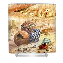 Anasazi Remnants Shower Curtain
