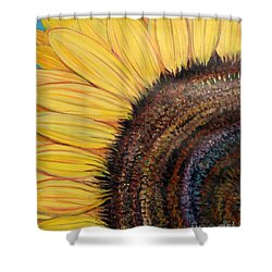 Anatomy Of A Sunflower Shower Curtain by Ecinja Art Works