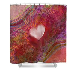 Anatomy Of Heart Shower Curtain