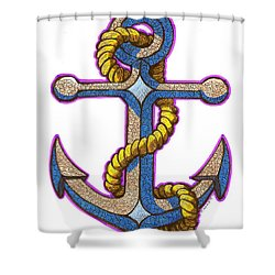 Anchor Colorized Shower Curtain