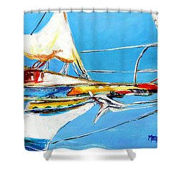 Anchored 2 Shower Curtain by Marti Green