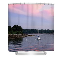 Anchored At Peaks Island, Maine  -07828 Shower Curtain