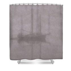 Anchored In Fog #1 Shower Curtain by Wally Hampton