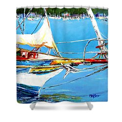 Anchored Shower Curtain by Marti Green