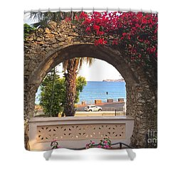 Ancient Arch Gaeta Italy Shower Curtain