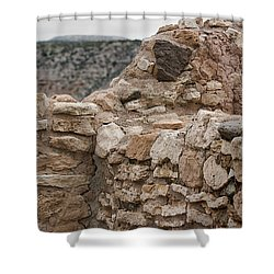 Shower Curtain featuring the photograph Ancient Buildings by Phyllis Denton
