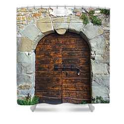 Ancient Castle Castel Door Trieste Shower Curtain