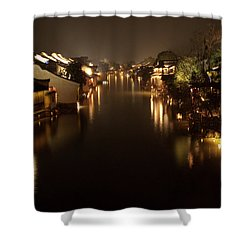 Ancient Chinese Water Town Shower Curtain