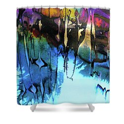 Shower Curtain featuring the painting Ancient Echoes by Mary Sullivan