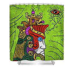 Shower Curtain featuring the digital art Ancient Egypt Pharaoh by Sotuland Art