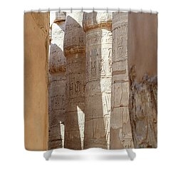 Shower Curtain featuring the photograph Ancient Egypt by Silvia Bruno