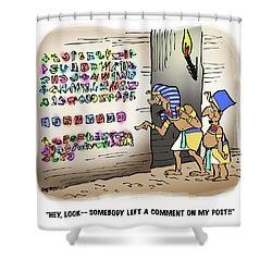 Ancient Egyptian Blog Shower Curtain